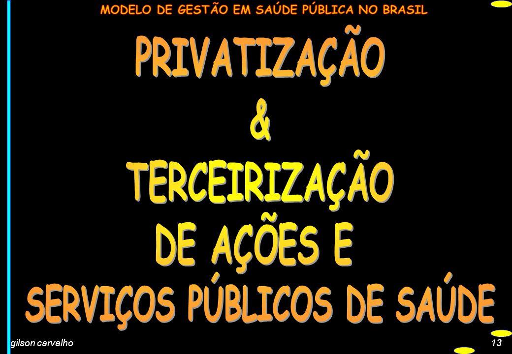 SERVIÇOS PÚBLICOS DE SAÚDE