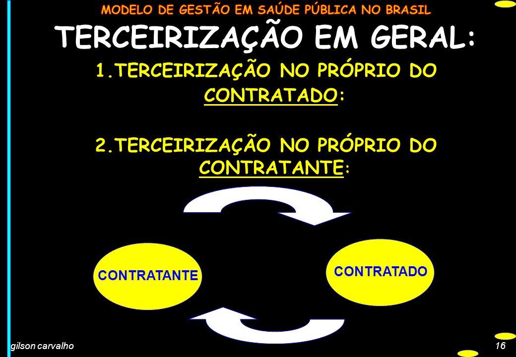 TERCEIRIZAÇÃO EM GERAL: