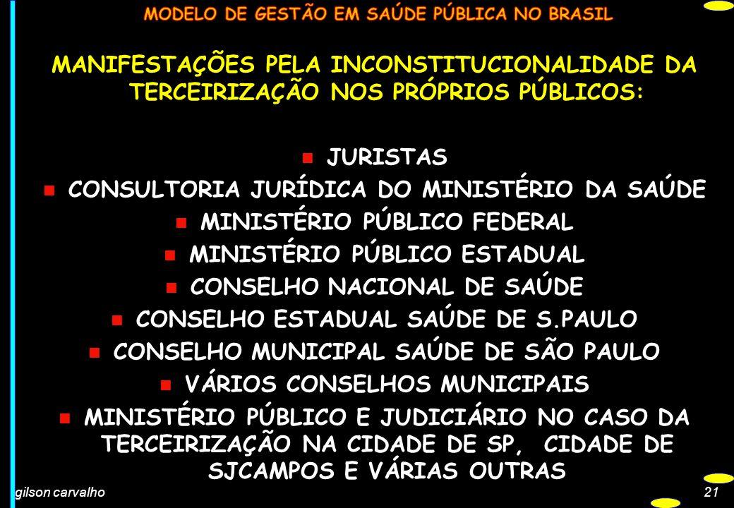CONSULTORIA JURÍDICA DO MINISTÉRIO DA SAÚDE MINISTÉRIO PÚBLICO FEDERAL