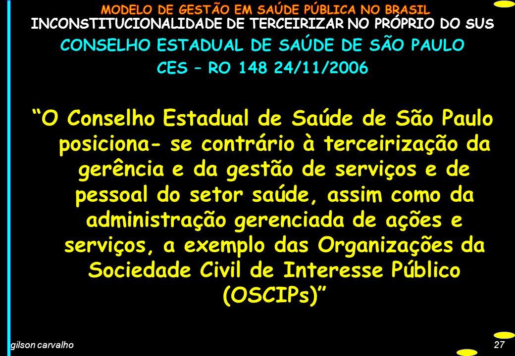 INCONSTITUCIONALIDADE DE TERCEIRIZAR NO PRÓPRIO DO SUS