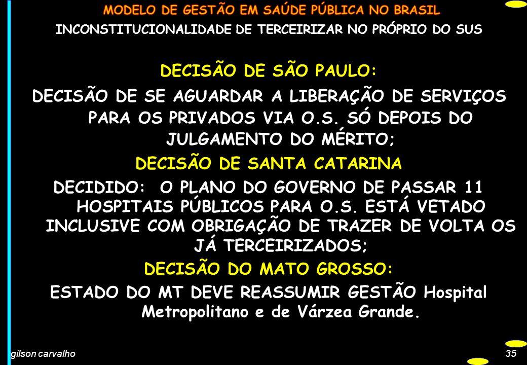 DECISÃO DE SANTA CATARINA