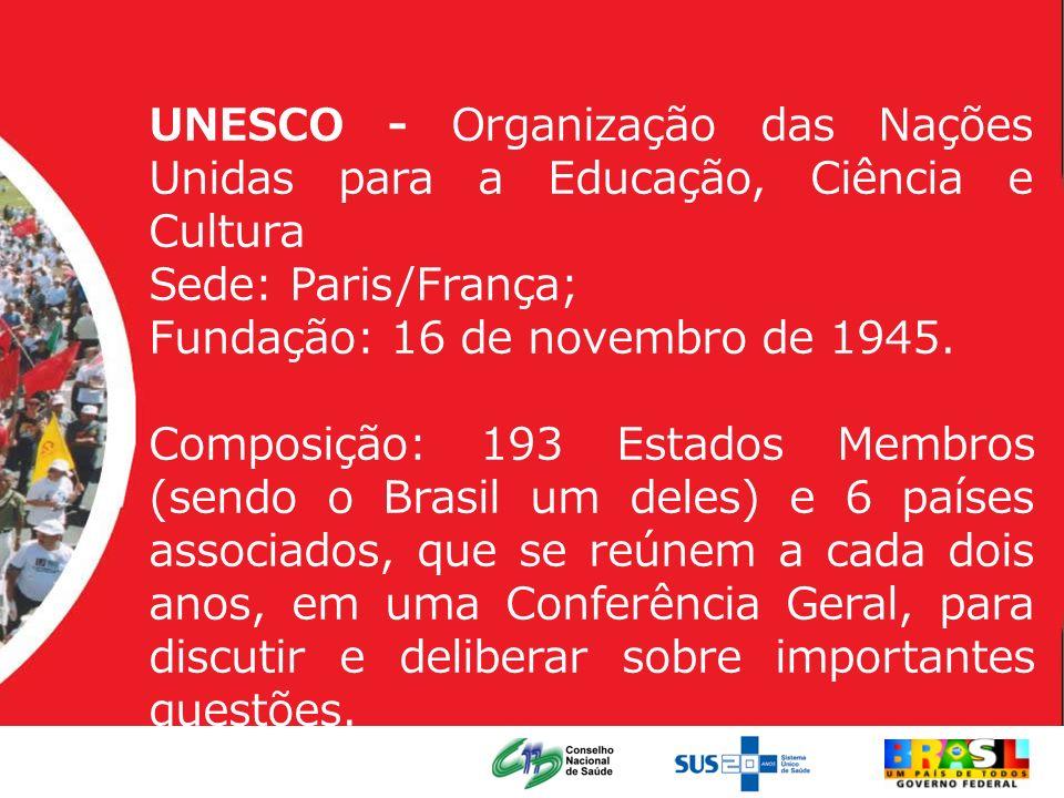 UNESCO - Organização das Nações Unidas para a Educação, Ciência e Cultura