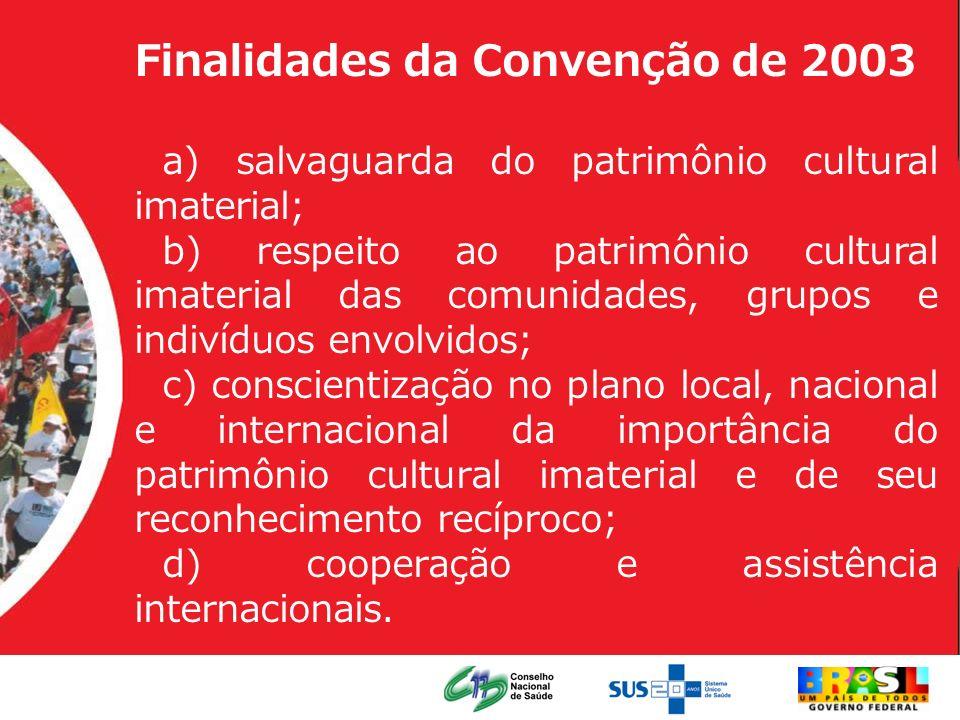 Finalidades da Convenção de 2003
