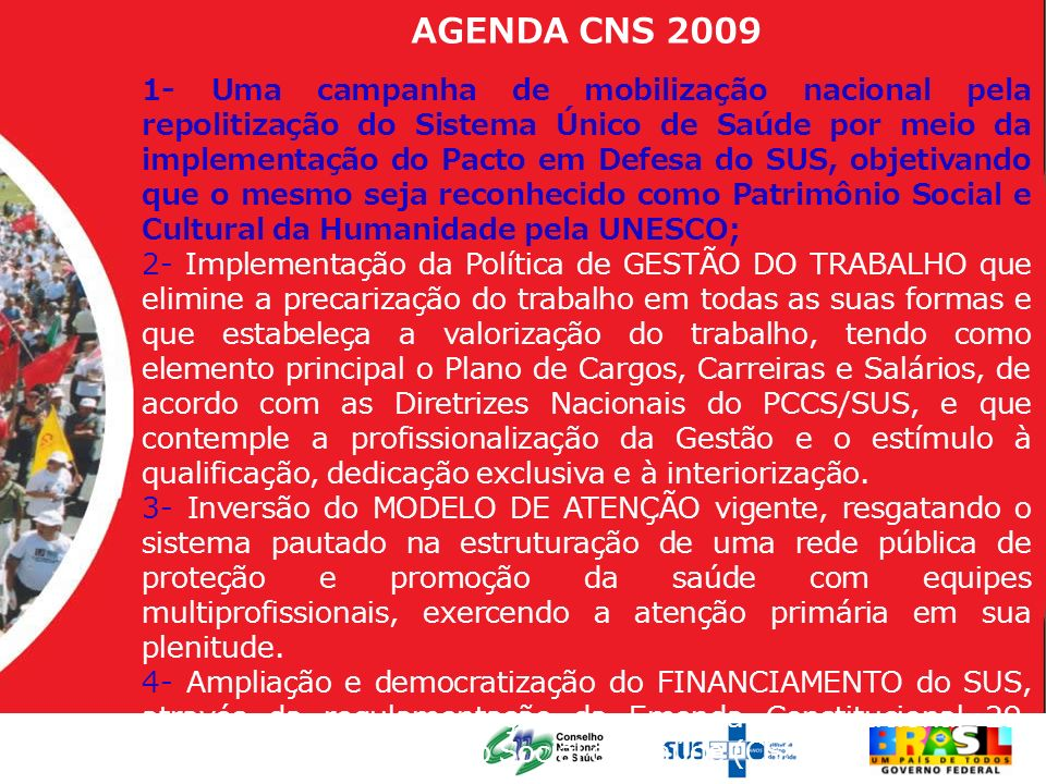 AGENDA CNS 2009