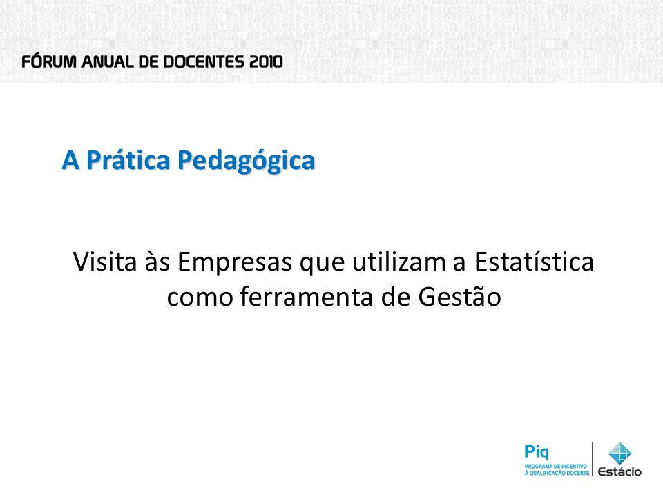A Prática Pedagógica Visita às Empresas que utilizam a Estatística como ferramenta de Gestão 2