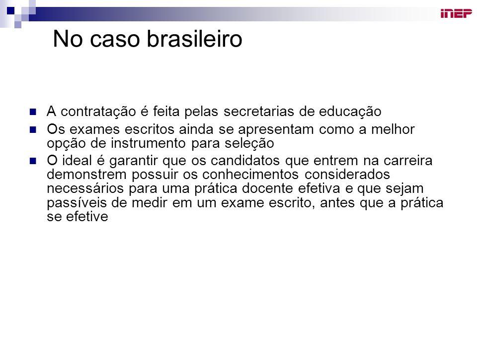 No caso brasileiro A contratação é feita pelas secretarias de educação