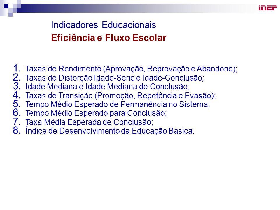 Indicadores Educacionais Eficiência e Fluxo Escolar