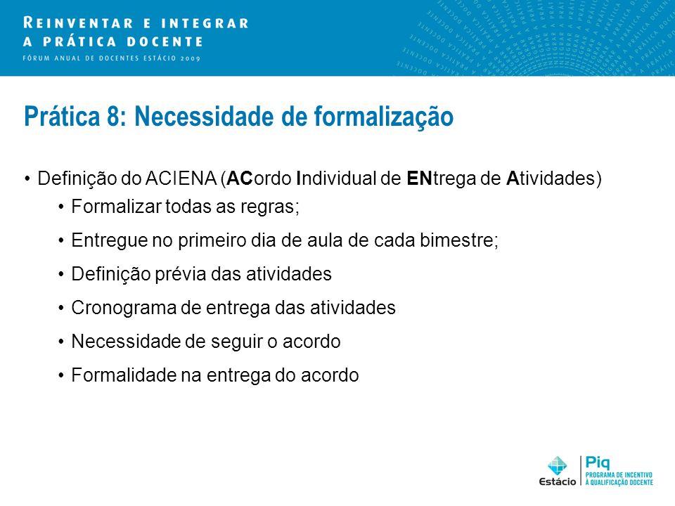 Prática 8: Necessidade de formalização