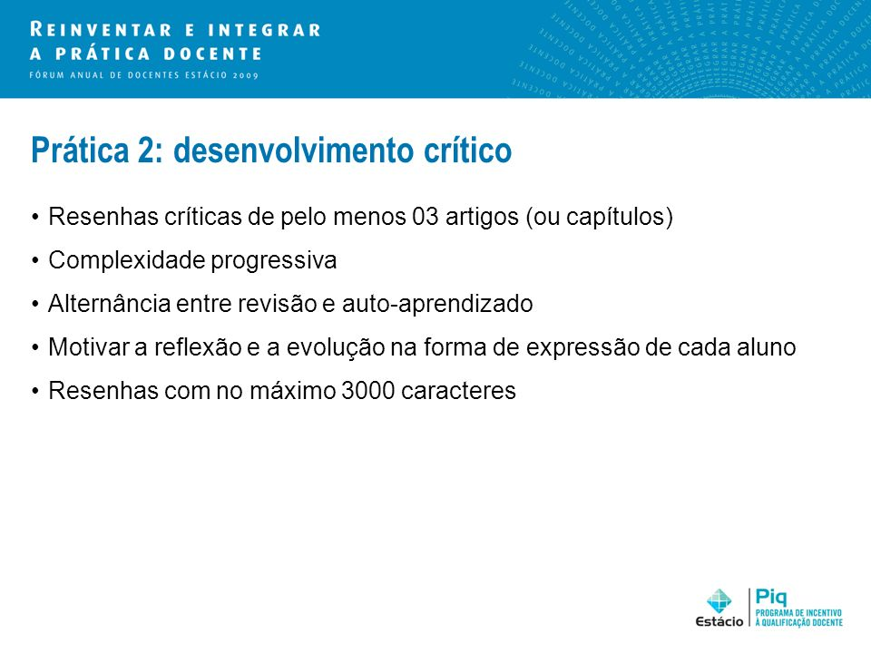 Prática 2: desenvolvimento crítico