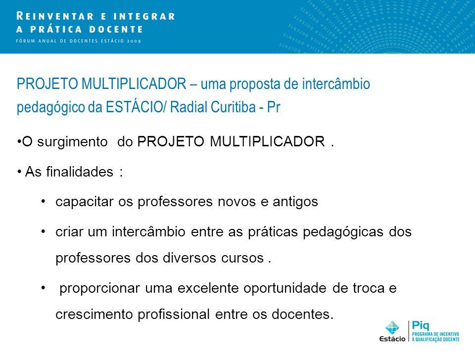 PROJETO MULTIPLICADOR – uma proposta de intercâmbio pedagógico da ESTÁCIO/ Radial Curitiba - Pr