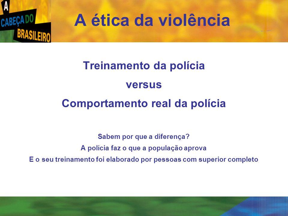 A ética da violência Treinamento da polícia versus