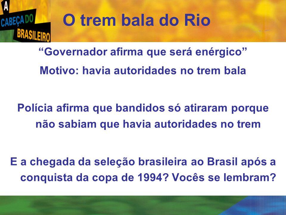 O trem bala do Rio Governador afirma que será enérgico