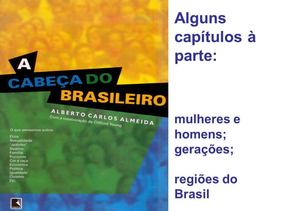 Alguns capítulos à parte: mulheres e homens; gerações; regiões do Brasil