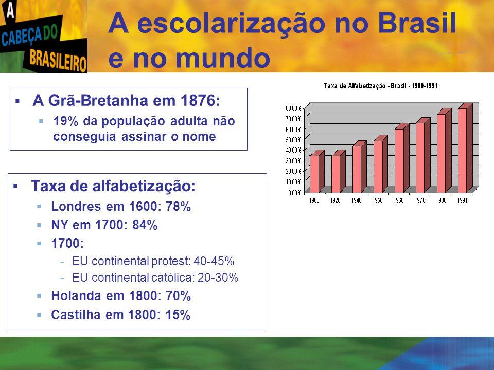 A escolarização no Brasil e no mundo