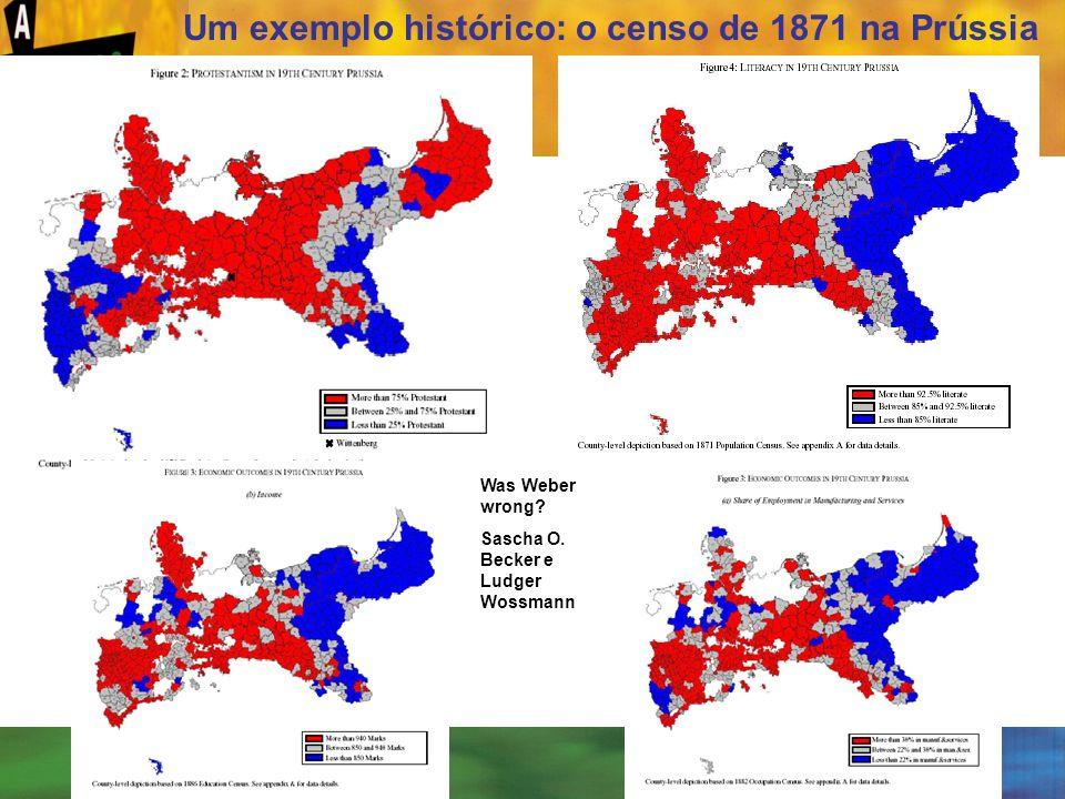 Um exemplo histórico: o censo de 1871 na Prússia