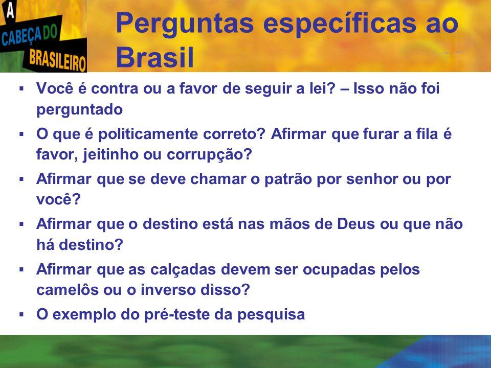 Perguntas específicas ao Brasil