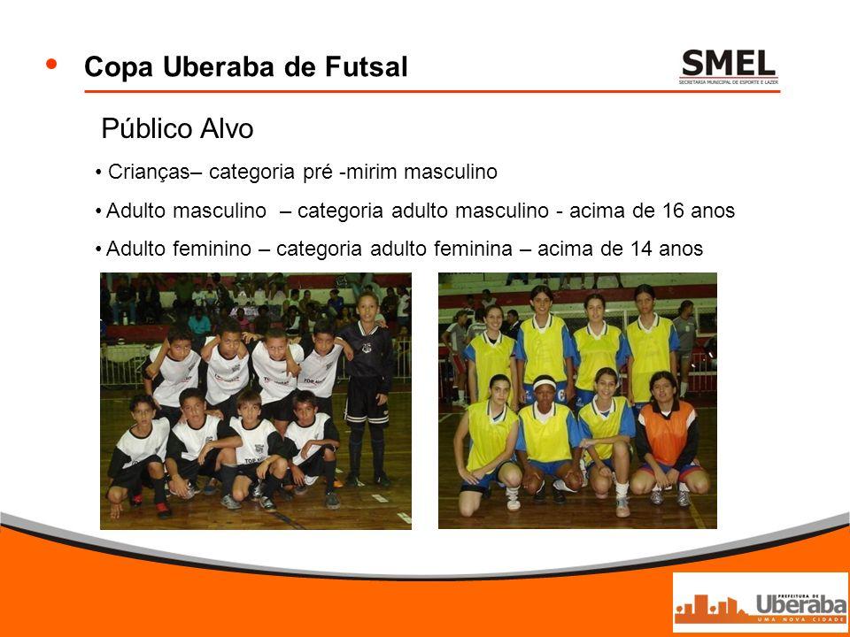 Copa Uberaba de Futsal Público Alvo