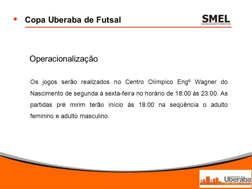 Copa Uberaba de Futsal Operacionalização