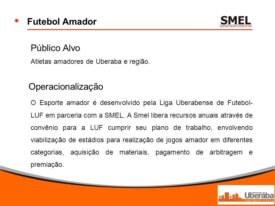 Futebol Amador Público Alvo Operacionalização