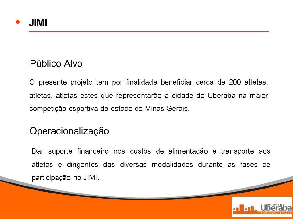 JIMI Público Alvo Operacionalização