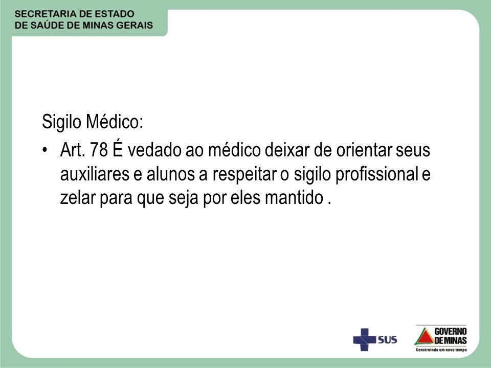Sigilo Médico: