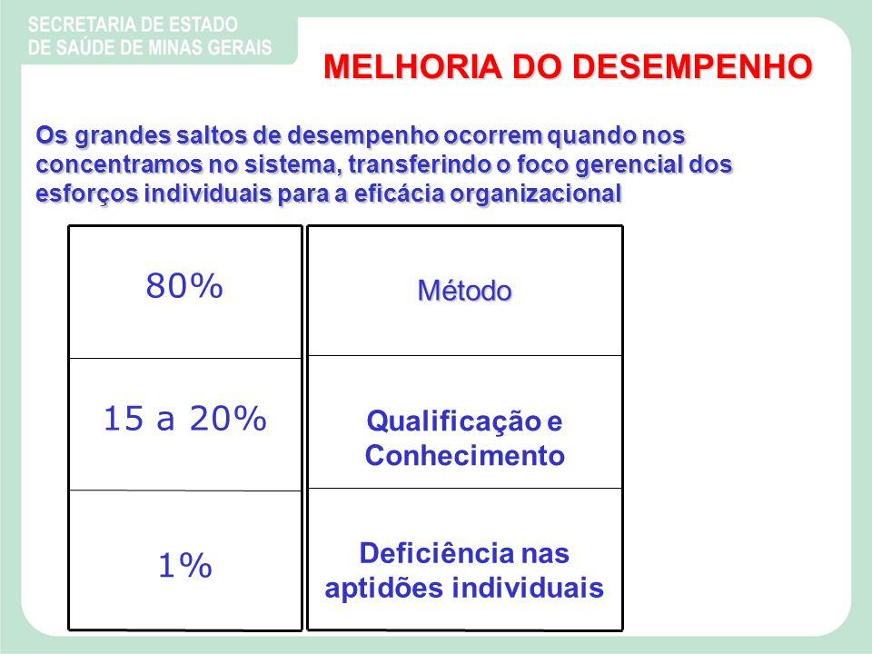Qualificação e Conhecimento Deficiência nas aptidões individuais