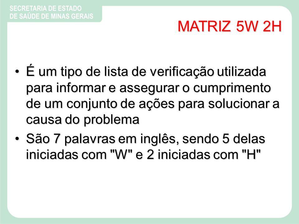MATRIZ 5W 2H
