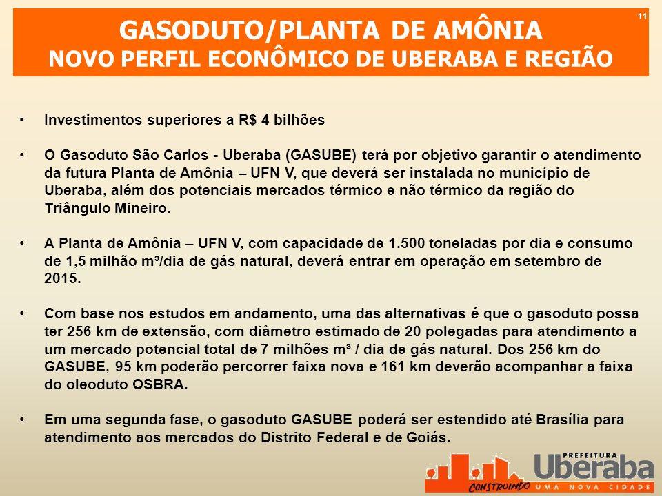GASODUTO/PLANTA DE AMÔNIA NOVO PERFIL ECONÔMICO DE UBERABA E REGIÃO