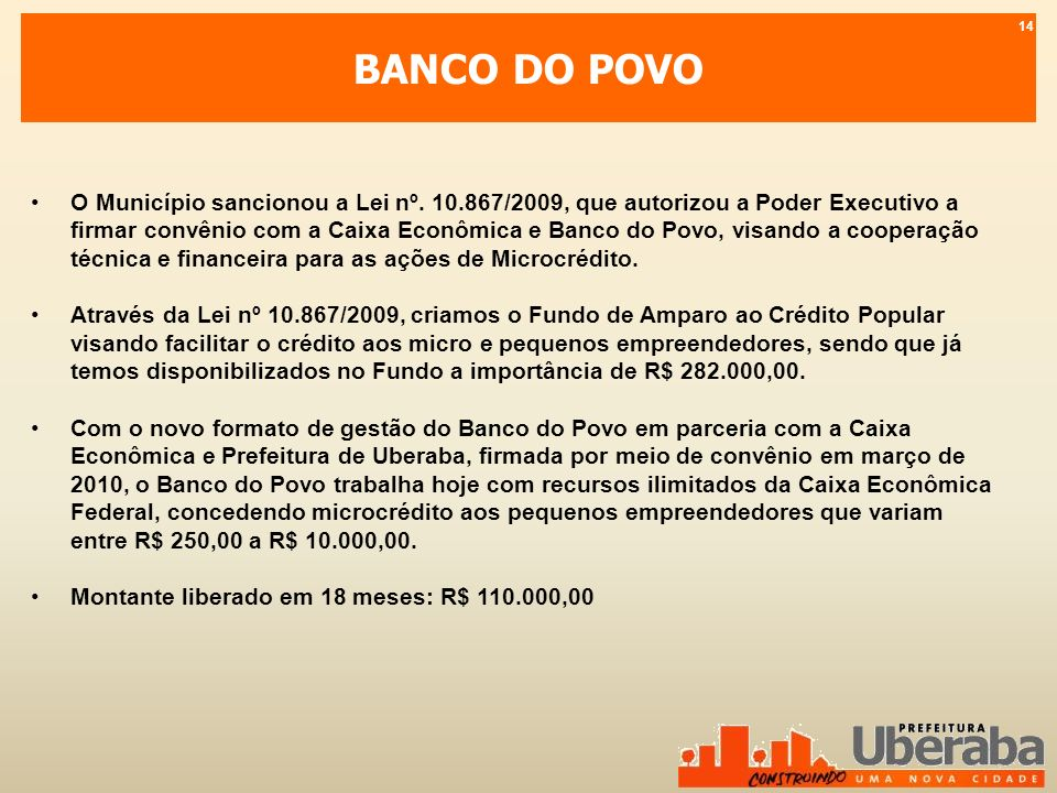 BANCO DO POVO 14.
