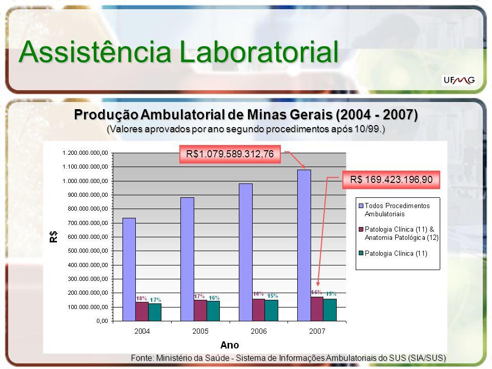 Produção Ambulatorial de Minas Gerais (2004 - 2007)