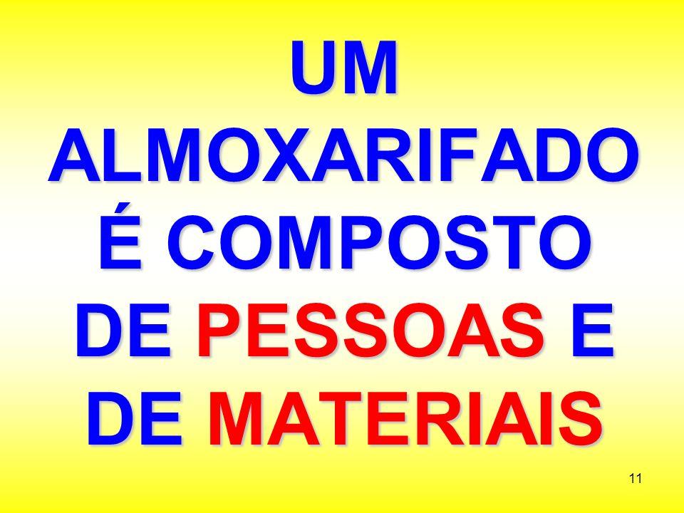 UM ALMOXARIFADO É COMPOSTO DE PESSOAS E DE MATERIAIS