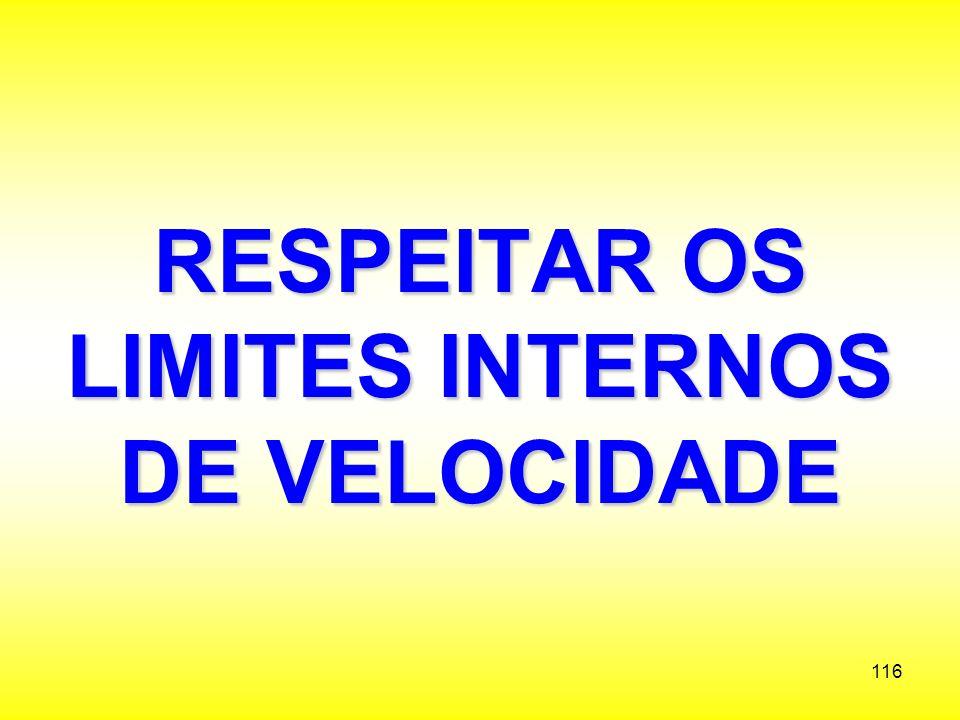 RESPEITAR OS LIMITES INTERNOS DE VELOCIDADE