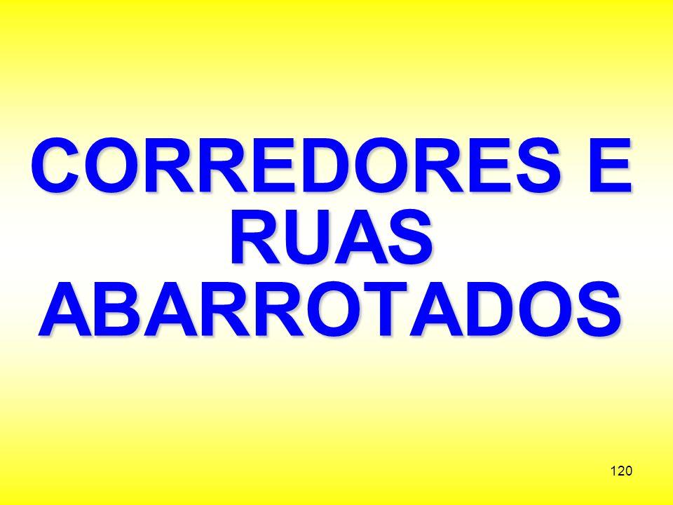 CORREDORES E RUAS ABARROTADOS