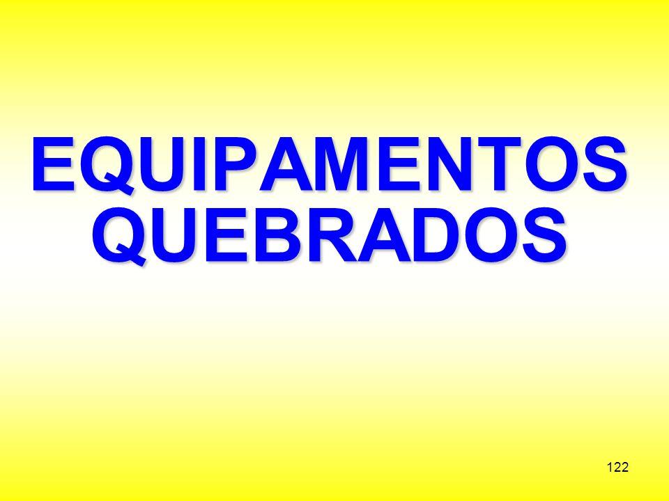 EQUIPAMENTOS QUEBRADOS