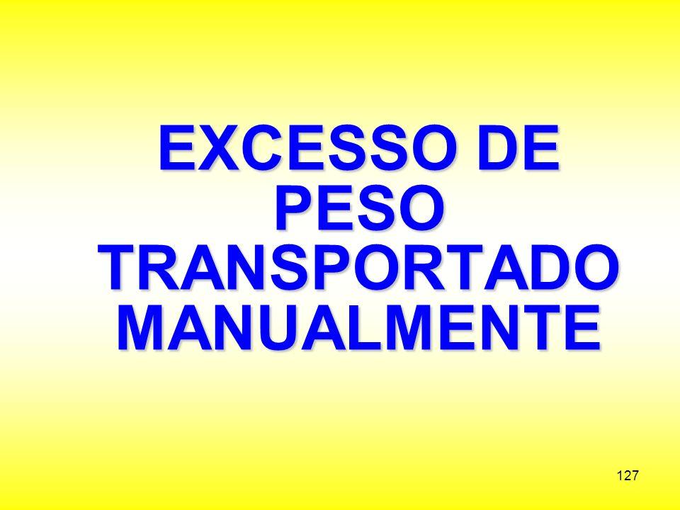 EXCESSO DE PESO TRANSPORTADO MANUALMENTE