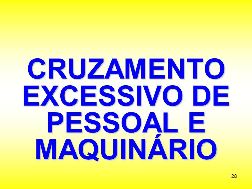 CRUZAMENTO EXCESSIVO DE PESSOAL E MAQUINÁRIO