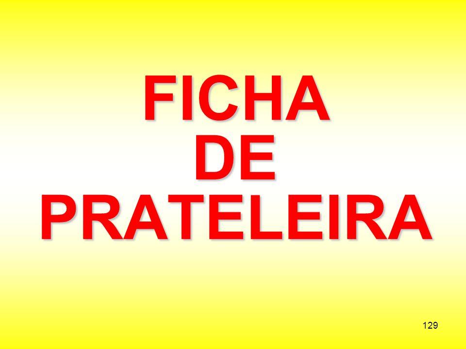 FICHA DE PRATELEIRA
