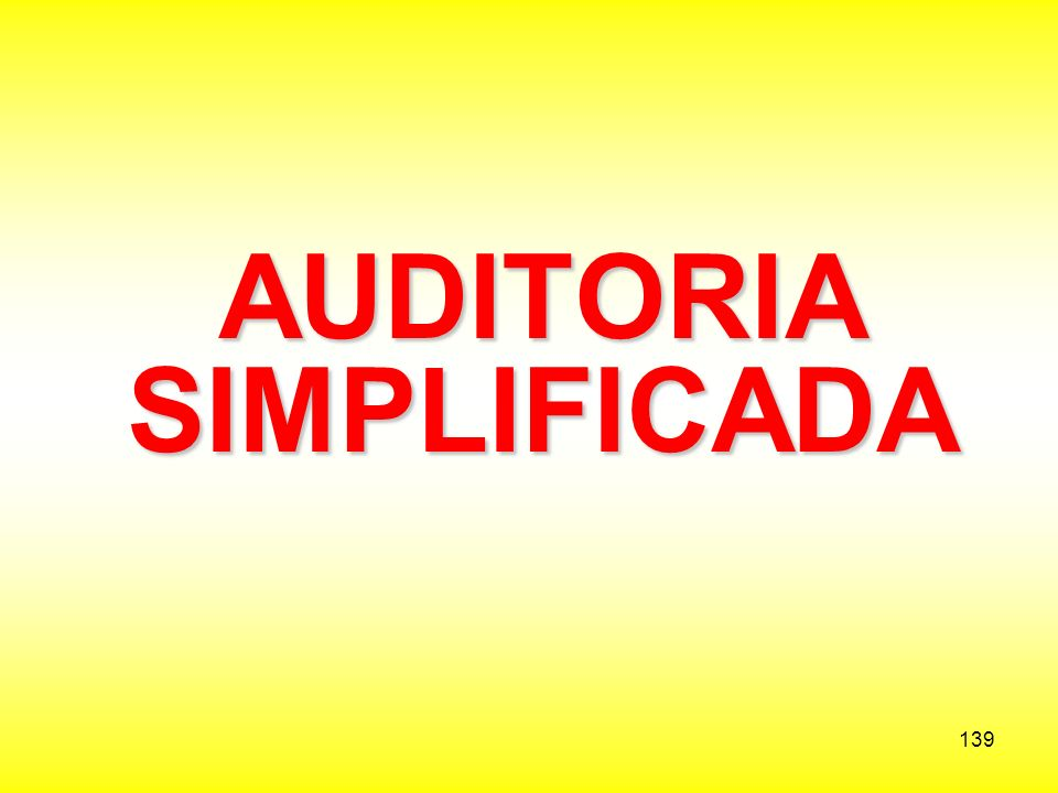 AUDITORIA SIMPLIFICADA