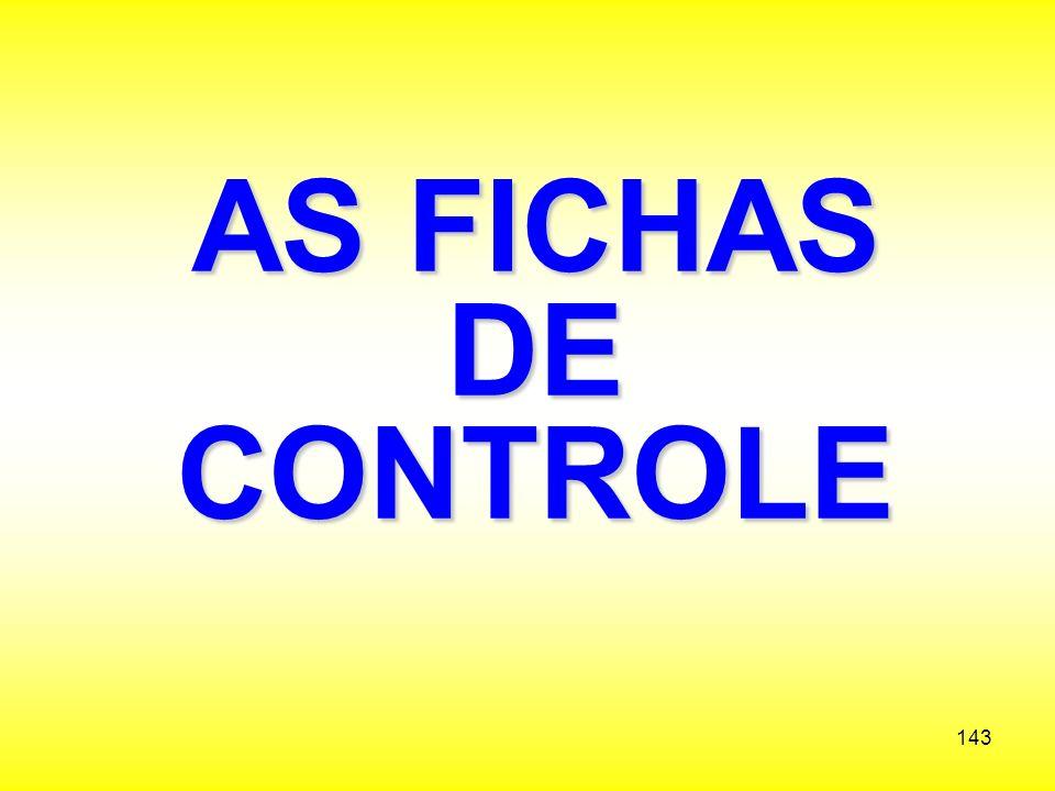 AS FICHAS DE CONTROLE
