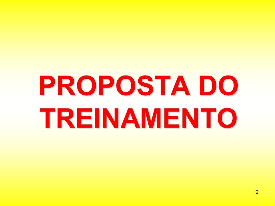 PROPOSTA DO TREINAMENTO