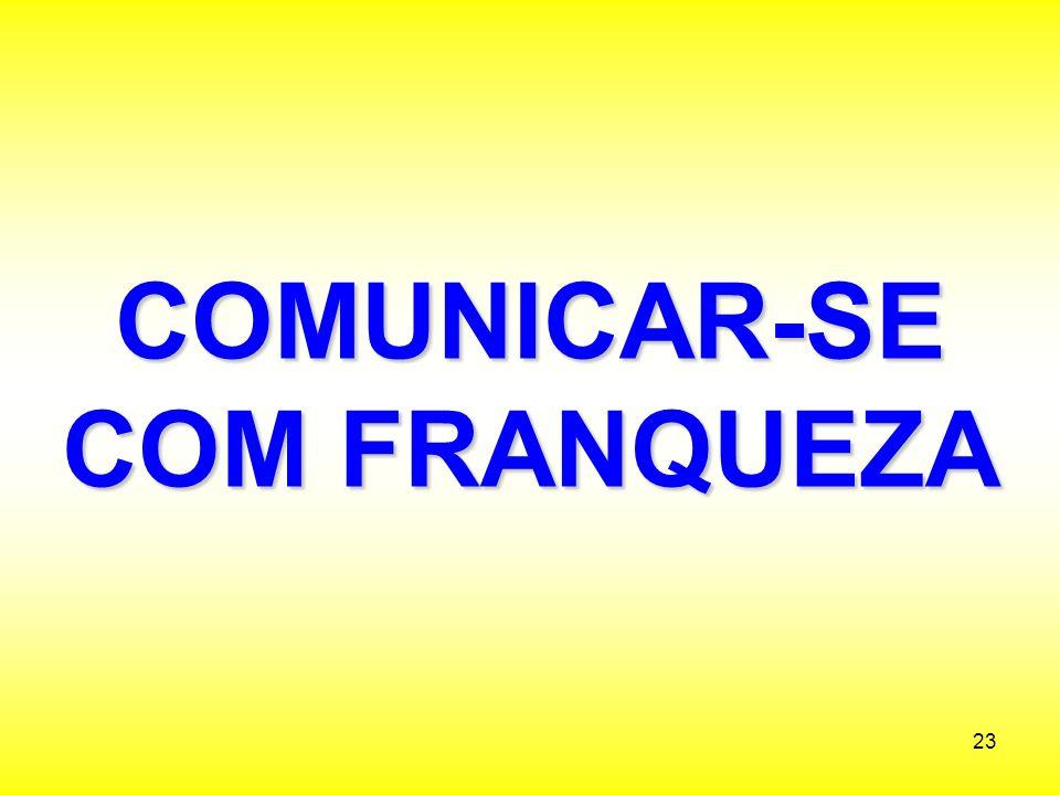 COMUNICAR-SE COM FRANQUEZA