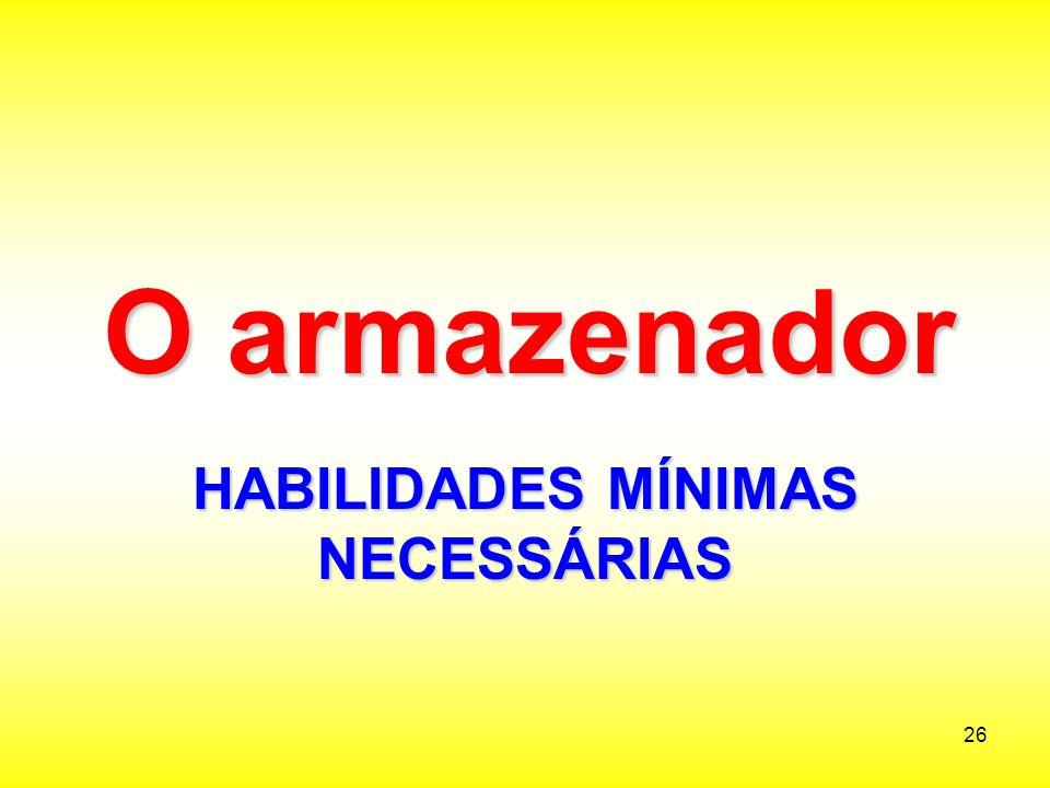 HABILIDADES MÍNIMAS NECESSÁRIAS