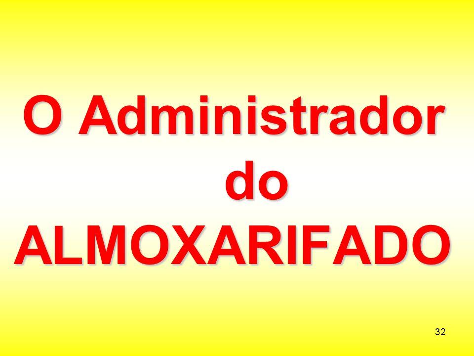 O Administrador do ALMOXARIFADO
