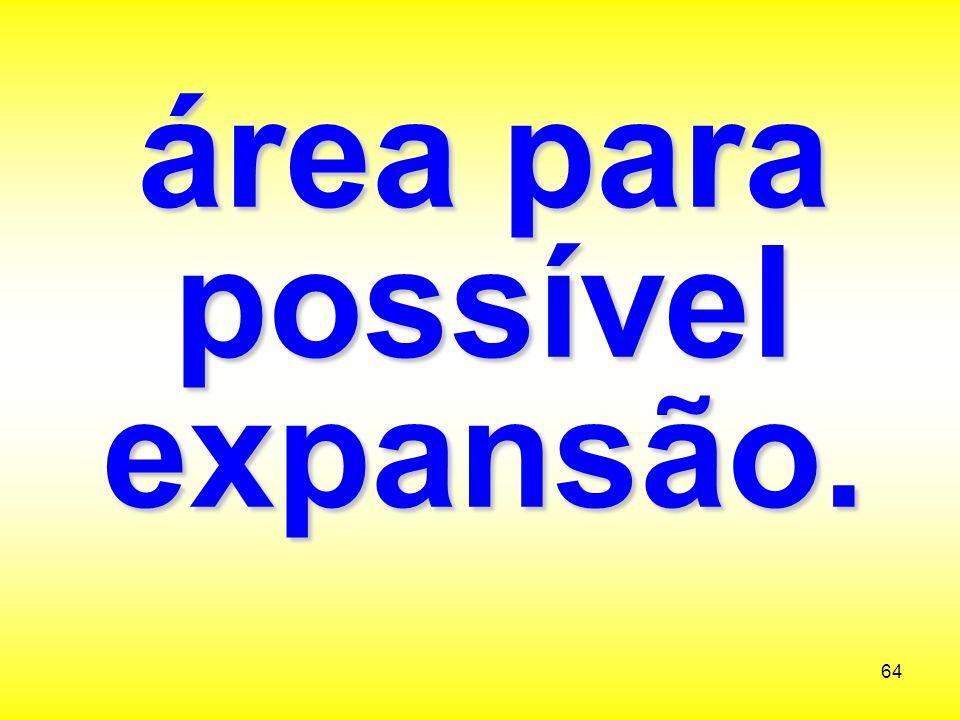 área para possível expansão.