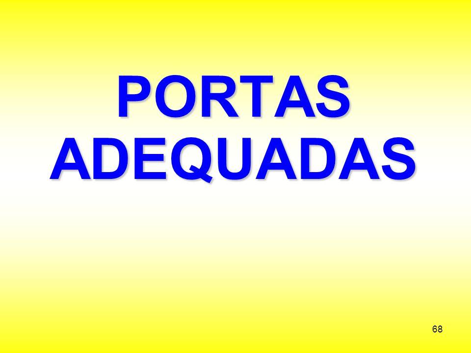 PORTAS ADEQUADAS