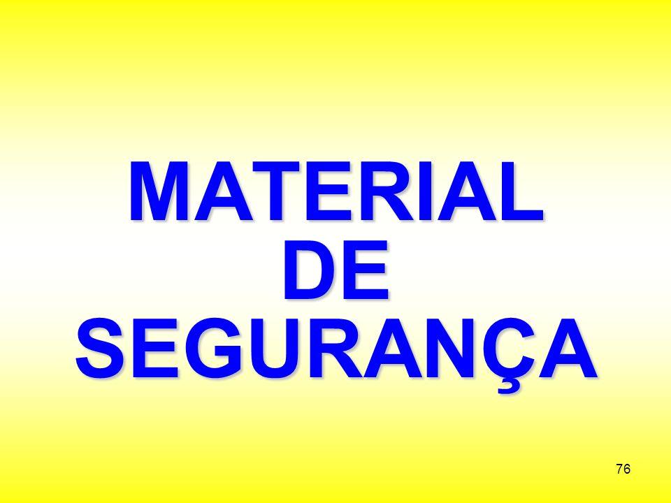 MATERIAL DE SEGURANÇA