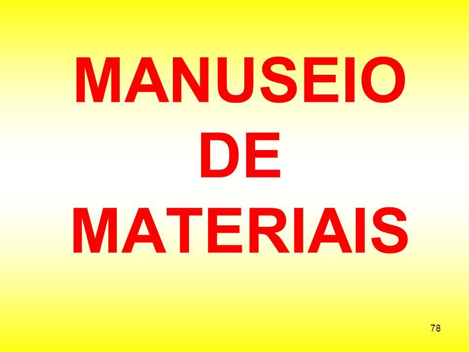 MANUSEIO DE MATERIAIS
