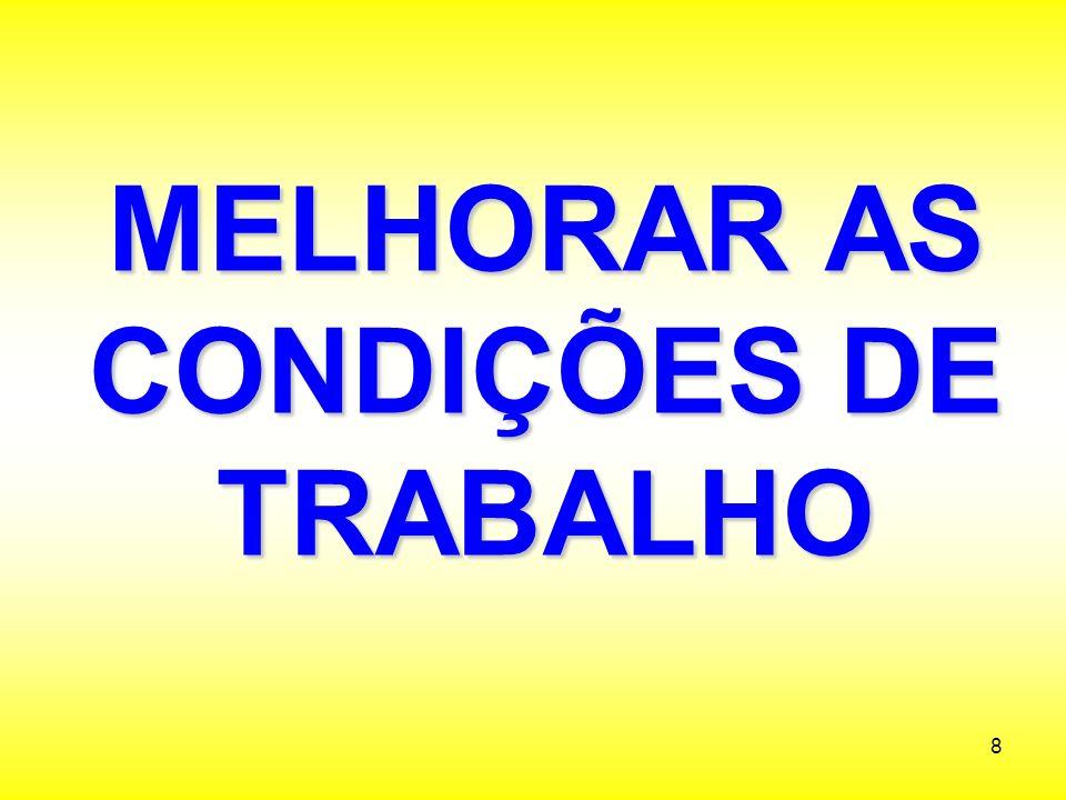 MELHORAR AS CONDIÇÕES DE TRABALHO