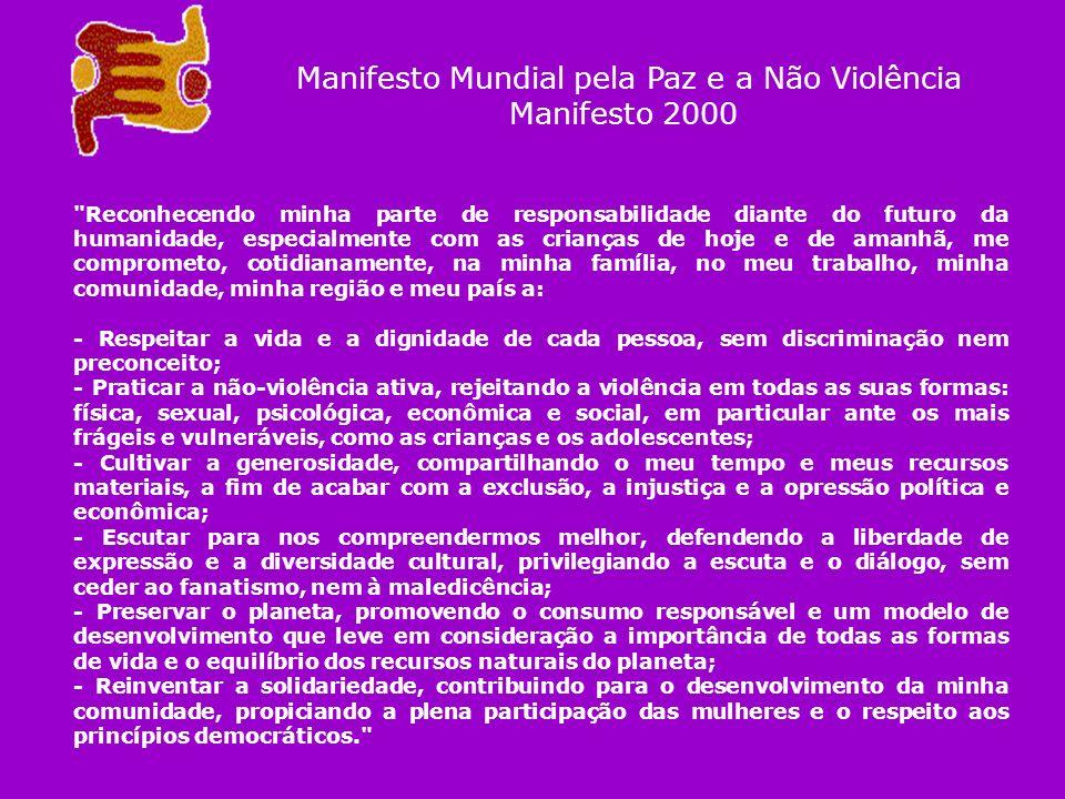 Manifesto Mundial pela Paz e a Não Violência