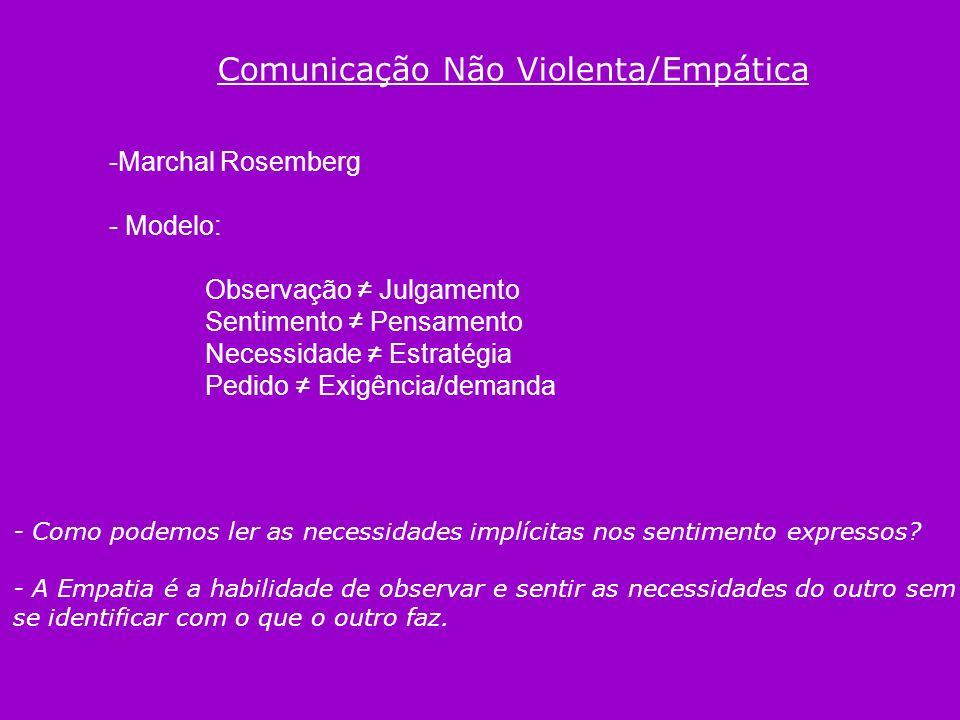 Comunicação Não Violenta/Empática